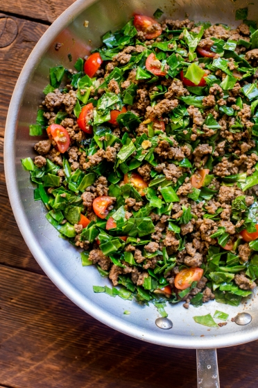 Sukuma Wiki (Kenyan Braised Collard Greens and Ground Beef