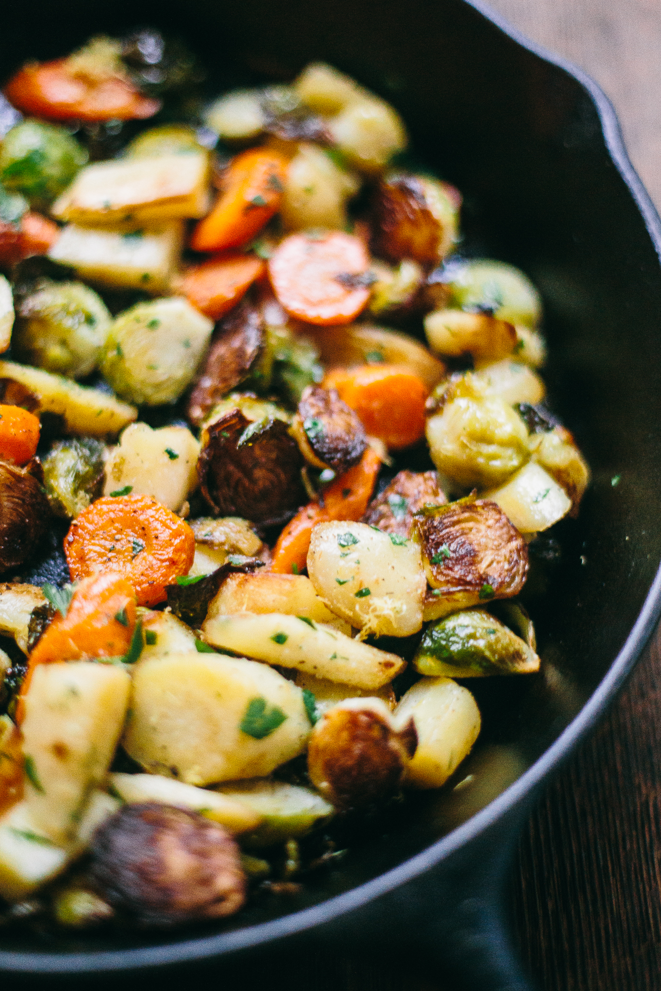 Skillet Roasted Winter Vegetables The Domestic Man