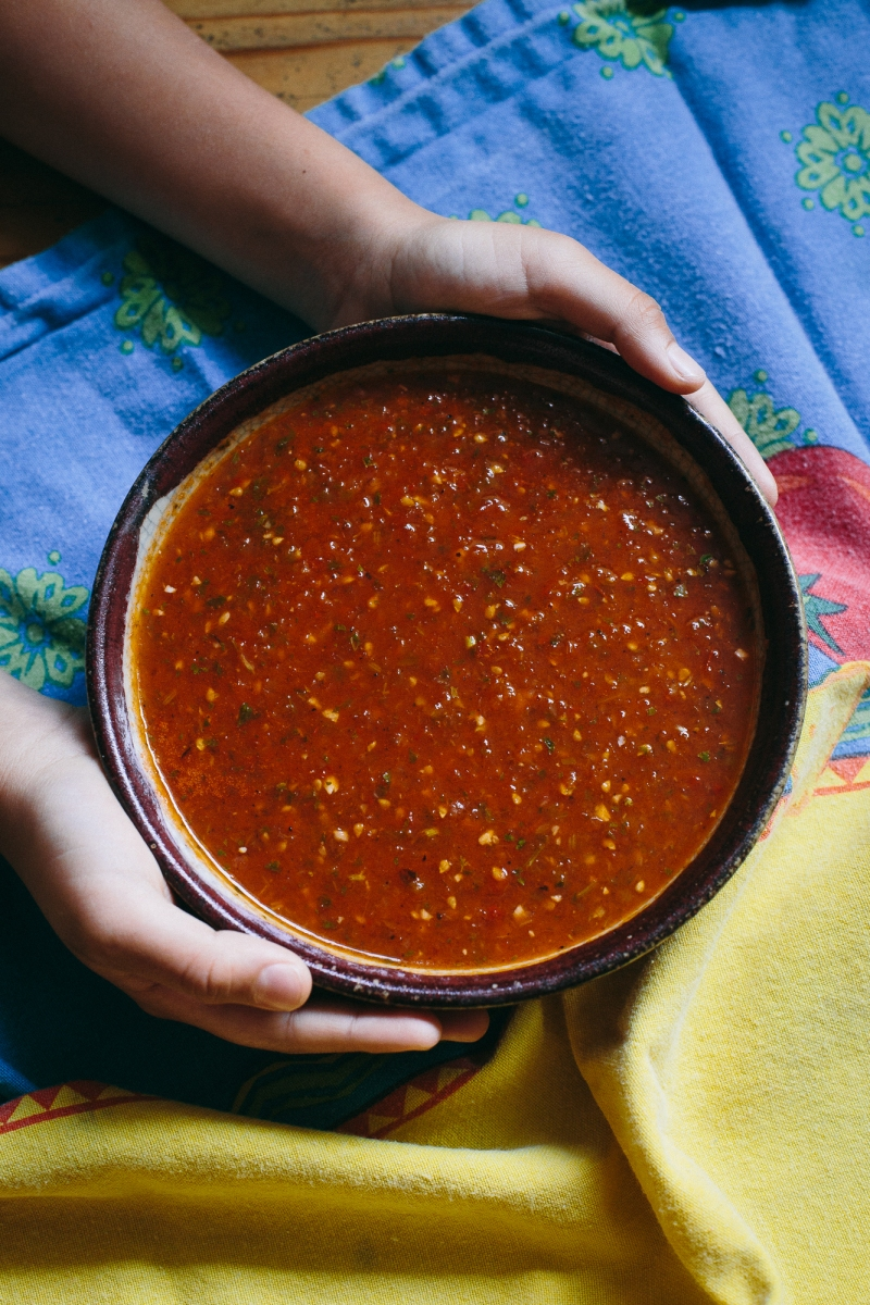 Simple Salsa Roja | The Domestic Man
