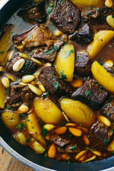 Lamb Tagine With Potatoes And Toasted Almonds The Domestic Man